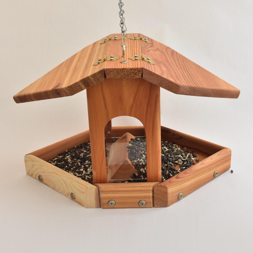 Cedar Large Mixed Seed Hanging Bird feeder