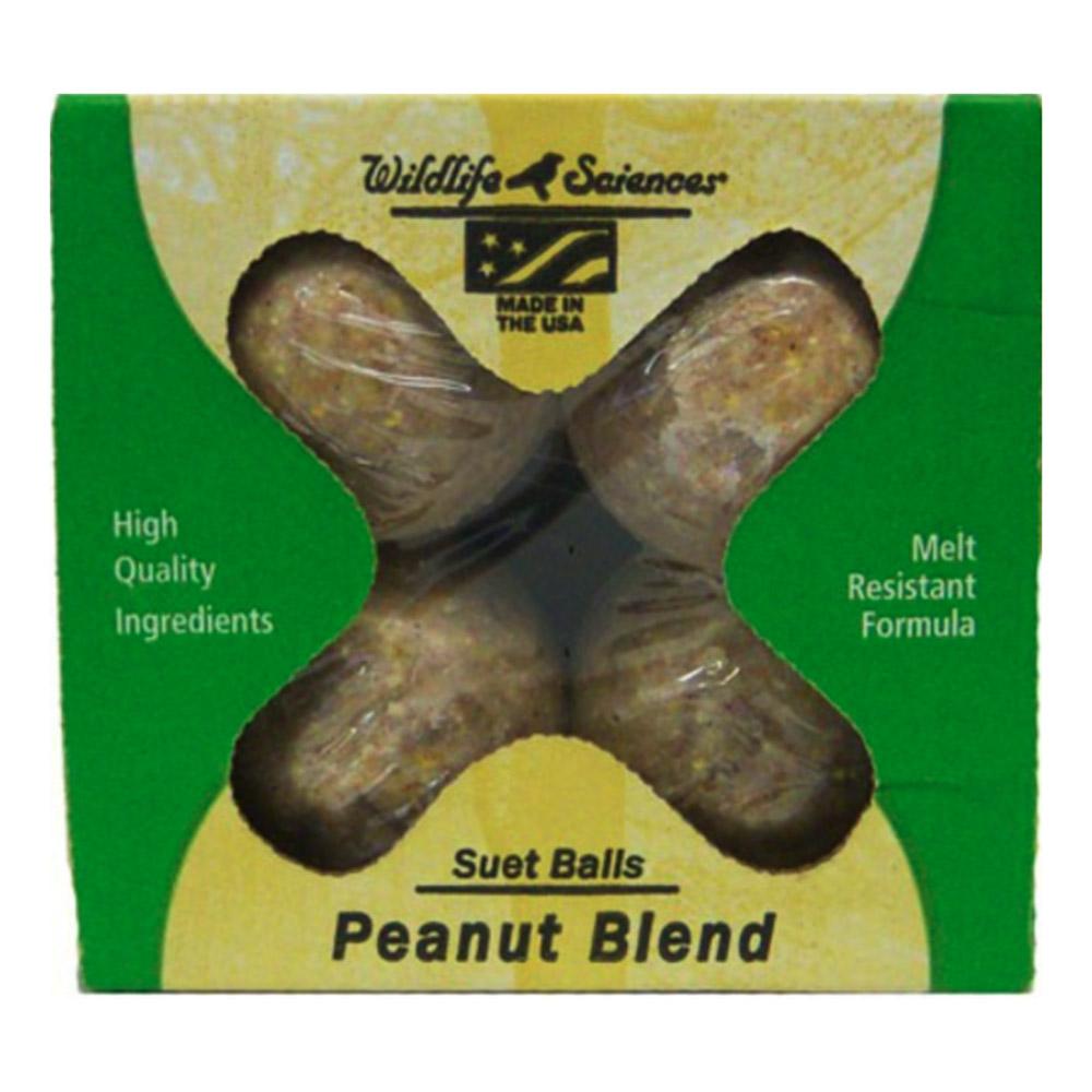 Suet Balls 4 Pack Peanut Blend Wildlife Science