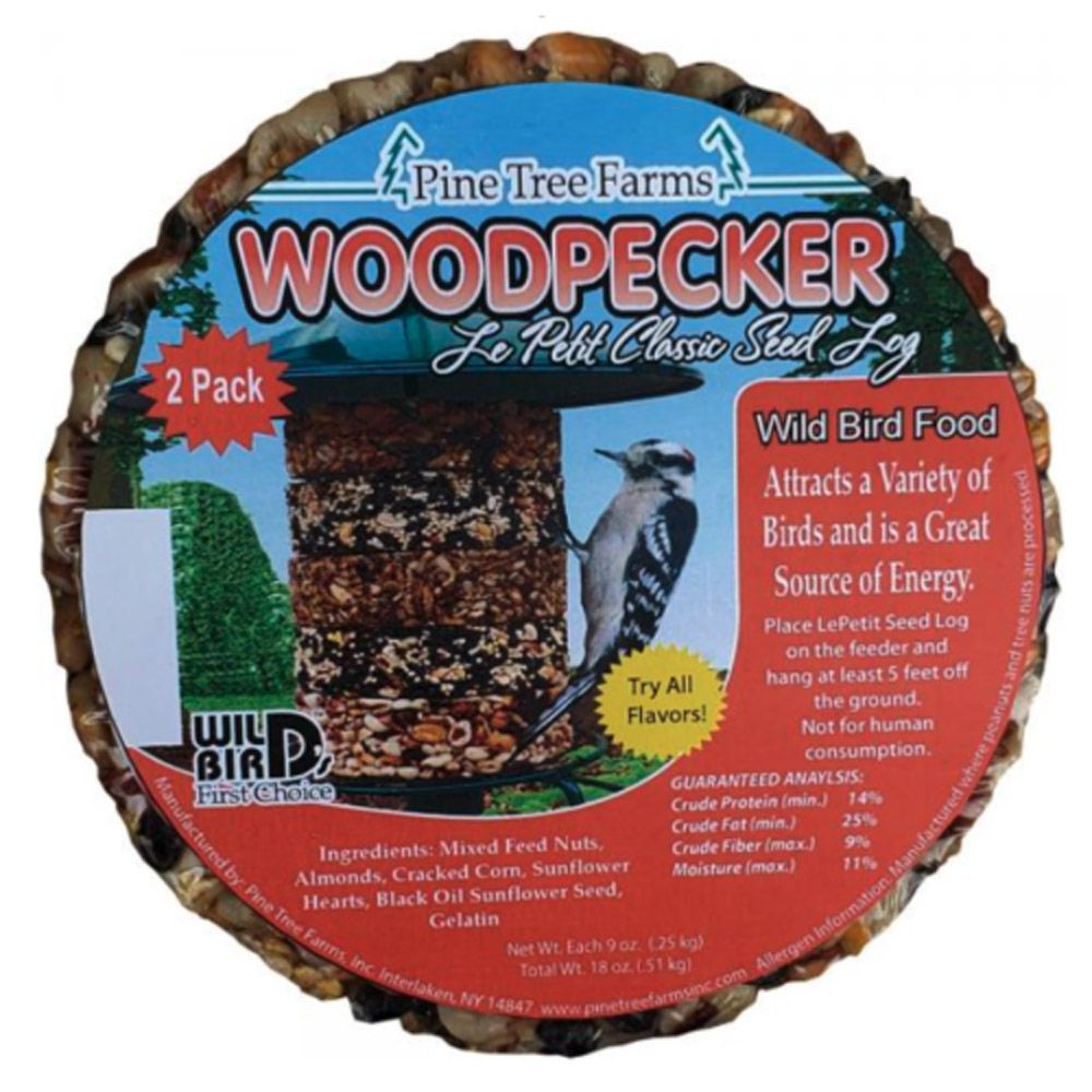 Lepetit Woodpecker Classic Seed Log 2 Pack