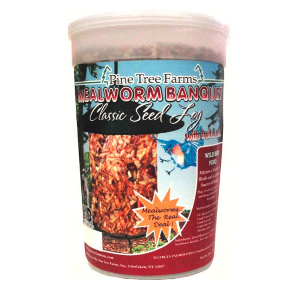 Mealworm Banquet Classic Seed Log 28 oz