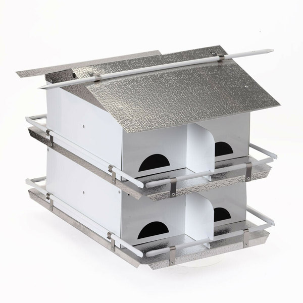 Purple Martin House 2 Floor / 8 Room with Starling Resistant Holes