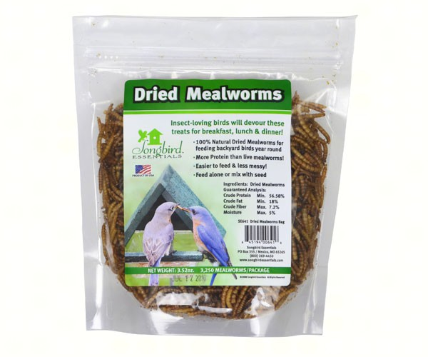 4 pack Dried Mealworms to Go